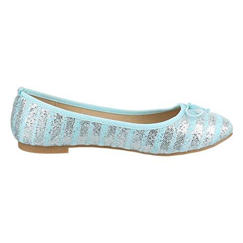 Ital-Design - Ballerine Donna Blu (blu chiaro)