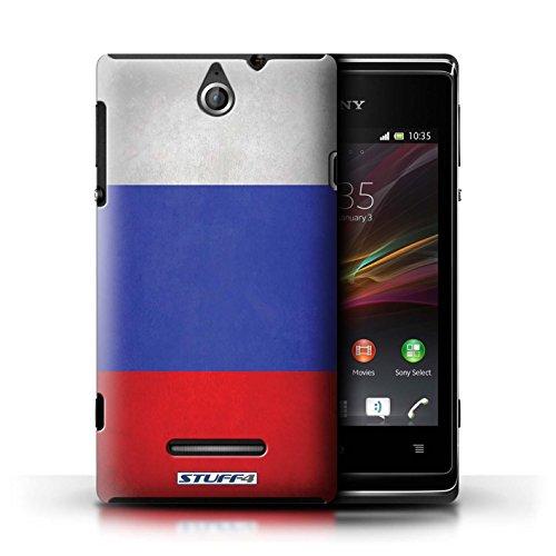 Kobalt® Imprimé Etui / Coque pour Sony Xperia E / Finlande/finlandais conception / Série Drapeau Russie