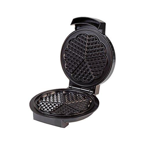 Waffeleisen Waffelautomat schwarz 1200 Watt mit ILAG®-Antihaftbeschichtung für leichte Reinigung