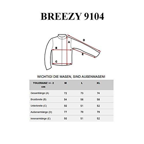 BOLF Felpa Pullover Manica lunga Maglione Collo alto Classic Motivo BREEZY 9104 Verde