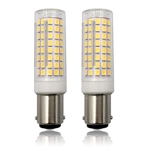 aiyowei BA15D LED, dimmbar BA15D Glühbirne, doppelter Boden Kontakt Bajonett T3/T4, 8W BA15d Leuchtmittel (75W oder 100W Halogen Leuchtmittel equvivalent) 6Stück, plastik, warmweiß, Ba15d, 8.00W 120.00V