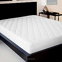 Funda de colchón acolchada con cubierta de Damasco y relleno alternativo de plumón, funda de