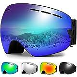 Zerhunt Skibrille, Snowboard-Schutzbrillen mit Anti-Nebel,UV-Schutz,Winddicht...