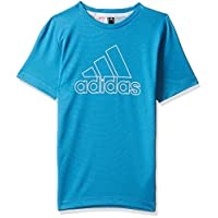 adidas Boy's Climachill T-Shirt, Blue (Shock Cyan), 9-10 Years