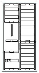Striebel&John Schrank komplett KS215 2/3A 1Z1V7 A Zähler-Komplettschrank 4011617358053