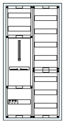 Striebel&John Schrank komplett KS215 2/3A 1Z1V7 A Zähler-Komplettschrank 4011617358053 -