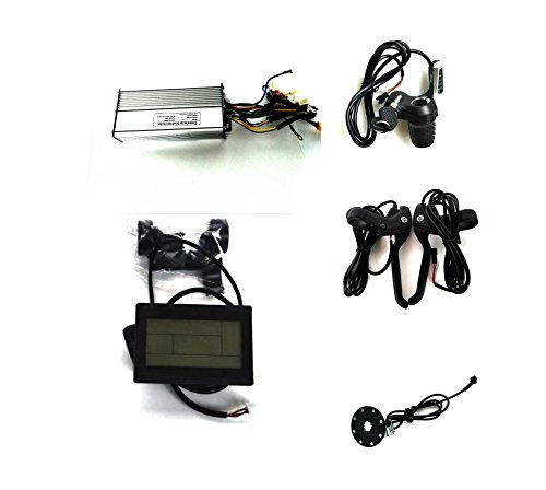 26A SINE WAVE CONTROLLER + LCD CONTROL PANEL + TWIST THROTTLE +BRAKE LEVER+PAS FOR 24V500W 36V750W 48V 1000W BLDC MOTOR (CONTROLLER+LCD+THROTTLE+BRAKE LEVER+PAS)