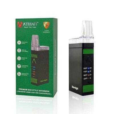 Vaporizzatore ATMAN Starlight Dry Herb & Wax - Camera di riscaldamento rapido in ceramica con 4 impostazioni di temperatura -Pure gusto vape mod 2800mAh Power Battery -No nicotina