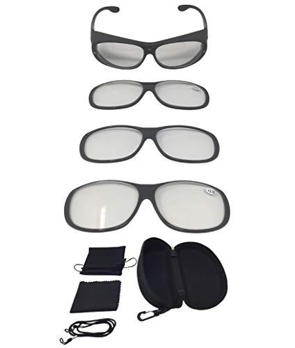 Vergrößerungsbrille Lupenbrille Zauberbrille MAGNETO EDITION Lupe auf der Nase optische...