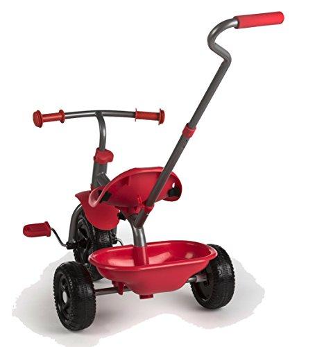 ColorBaby - Triciclo con Mango Extensible - Rojo (43451)