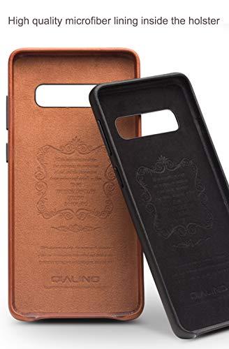 COVO® Coque Samsung Galaxy S10 Plus,Coque arrière pour Affaires Classique,Fait à la Main Etui Premium en Cuir de Vache Coques arrière pour S... 6