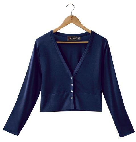 Silkbody - Gilet -  - Uni - Manches longues Femme Bleu Marine