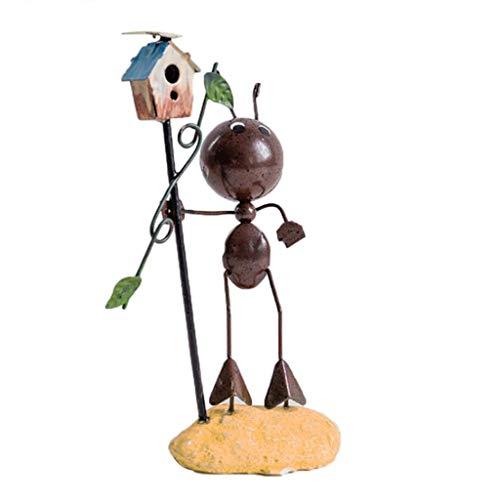 Bücherregal Sockel (Homyl Moderne Deko Tierfigur Skulptur Ameise Dekofigur für Bücherregal/Weinregel/Tisch, Geschenkidee - F)