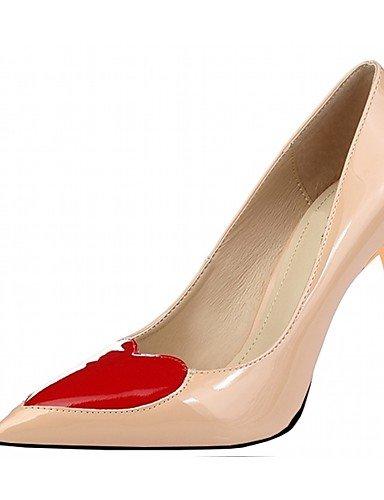 WSS 2016 Chaussures Femme-Mariage / Bureau & Travail / Soirée & Evénement / Habillé / Décontracté-Noir / Rouge / Blanc / Gris / Amande-Talon red-us9.5-10 / eu41 / uk7.5-8 / cn42