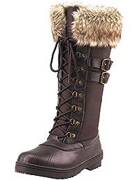 Amazon.fr   Bottes et boots fourrées - Chaussures femme   Chaussures ... f741079c3d54