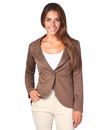 3558-MOC-08: KRISP Damen Fashion Blazer (Mokka, (For Outfits Sale)