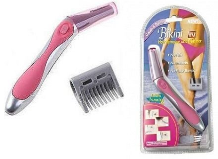 Seem Women Bikini Hair Remover Trimmer Shaver with Shaving Head and Comb