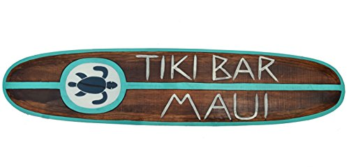 Deko Surfboard 100cm Tiki Bar Maui als Exclusiv Farbdesign Dekoration Aloha Board Hawaii
