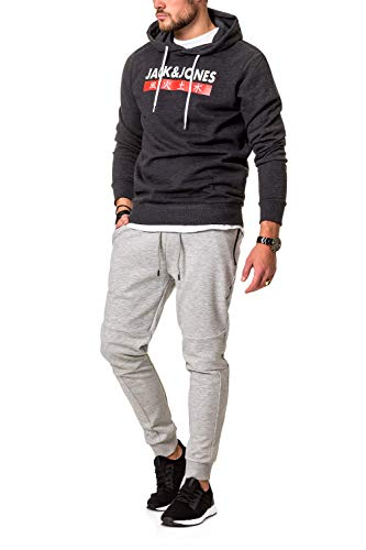JACK /& JONES Herren Hoodie Kapuzenpullover Sweatshirt Pullover Streetwear 4 Elements
