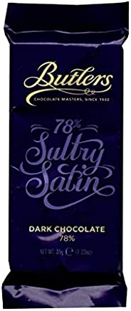 Butlers 78% Dark Sultry Satin Bar, Imported Chocolates, Ideal for Gifting, Birthday Gift, Dark Chocolate, Choc