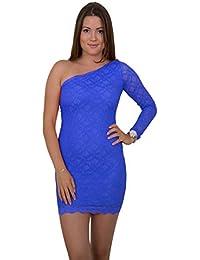 Design asymétrique sexy avec mini robe de soirée-robe asymétrique en dentelle différents coloris
