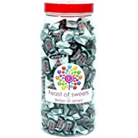 BLACK JACK CHEWS 500g+. Feast of Sweets Jar by Britten & James®. Dulces británicos tradicionales en un frasco reutilizable de plástico de 970 ml. Un regalo perfecto para Navidad, cumpleaños, padre, madre, abuela, abuelo, bodas y fiestas.