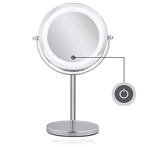 Color : White, Size : 50cm Hanging Mirror RXY-mirror Simple Wall Hanging Mirror Round Mirror Fitting Mirror Wrought Iron Lanyard
