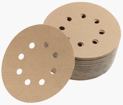 150 Grit-hook (Mirka 23-615-150 5 8-Hole 150 Grit Dustless Hook & Loop Sanding Discs - by Mirka)