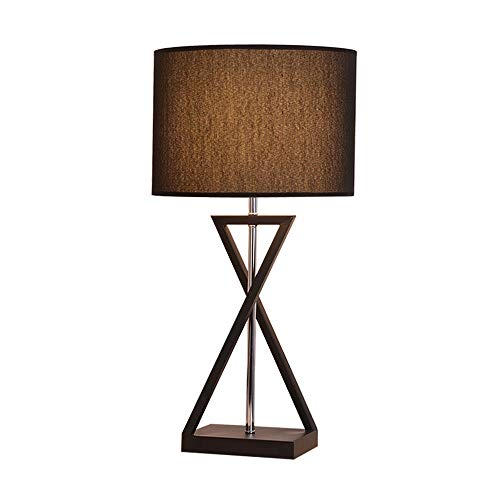Moderne Minimalistische Schmiedeeisen Tischlampe Wohnzimmer Schlafzimmer Nachttischlampe Arbeitszimmer Taste Dimmen Warme Kreative Stoff Dekorative Tischlampe (schwarz Weiß) Dekorative Tischlampe
