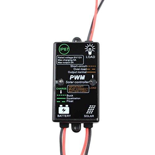 Generation Solar-led-licht Der 2. (Topker Photovoltaic Power Generation Solar-Controller Panel Batterieladeregler-Controller 12V 5A automatisch)