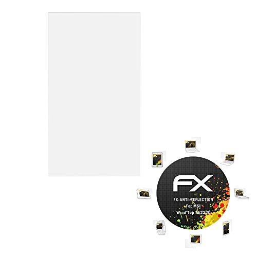 atFolix Panzerfolie kompatibel mit MSI Wind Top AE2220 Schutzfolie, entspiegelnde & stoßdämpfende FX Folie