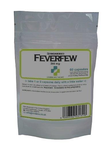 Mutterkraut 60 Kapseln (Verbrauch: Migräne, Schmerzen, Heuschnupfen) (Fieber paar Tabletten)