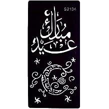 Just Fox – Plantilla de tatuaje de henna, aerógrafo, letra árabe, ...