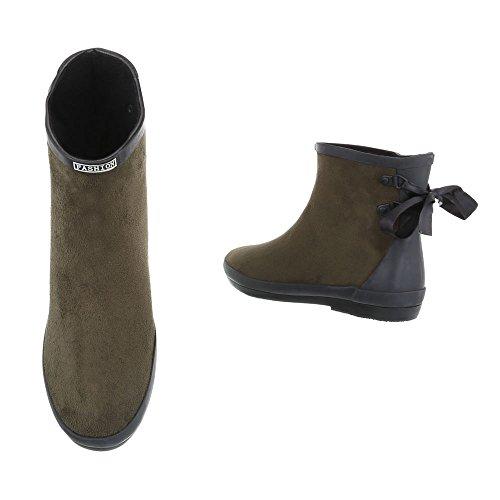 Ital-design - Bottes Femme Olive