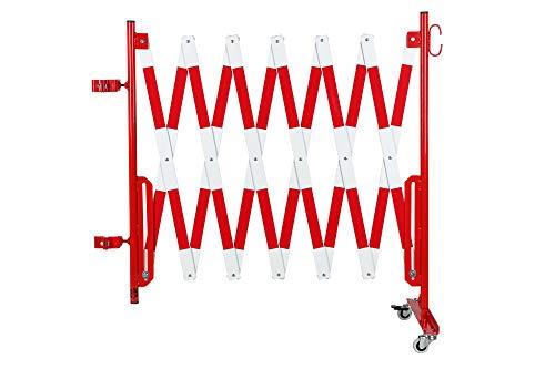 Doc Grille de protection Ciseaux montagekit pour les poteaux de blocage existants (non inclus dans la livraison) 4000 mm, 70 x 70 mm, rouge/blanc