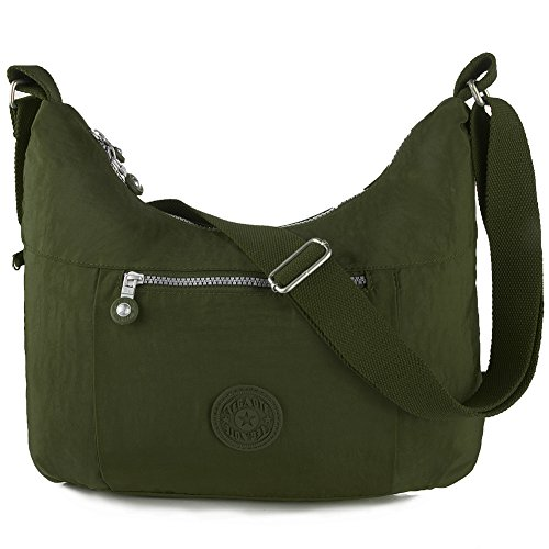 Oakarbo, Borsa a tracolla donna beige 940 Camel 940 Army green
