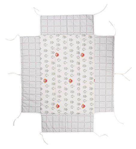 Geuther Tour de parc avec tapis Chouette Grise pour parc Belami 73 x 102/Lucilee 80 x 102/Euro-Parc 73 x 102