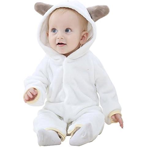 YOUJIA Cartoon Pijama De Puro Algodón Ropa Una Sola Pieza Gorro Para Bebé Niño Niña Baby Romper