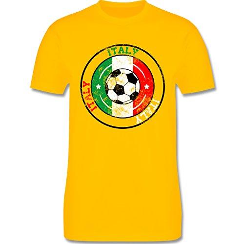 EM 2016 - Frankreich - Italy Kreis & Fußball Vintage - Herren Premium T-Shirt Gelb