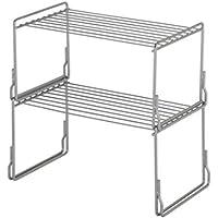 Steel Cupboard Storage Solution Plate Rack With Elegant 4 Shelves