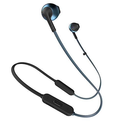 JBL Tune205BT Bluetooth Kopfhörer in Blau, Wireless Headphones mit 3-Tasten-Fernbedienung & Mikrofon, Ohrhörer für bis zu 6 Stunden Musik mit einer Akkuladung