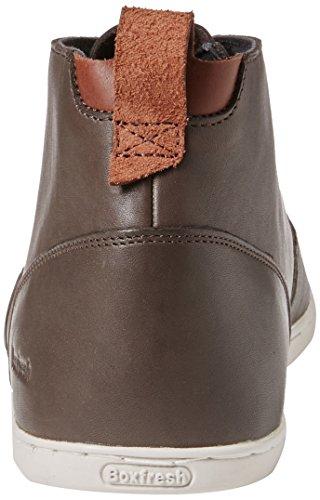 Boxfresh Symmons Sh Lea Dk Brn L, Sneakers Hautes homme Marron - Brown (Dk Brown)