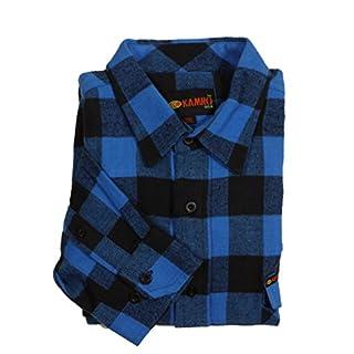 KAMRO Holzfäller-Langarmhemd Übergröße 10XL, blau, Größe:8XL