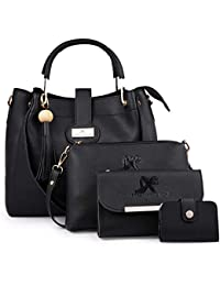 Speed X Fashion Women Hand Bag With Combo Black