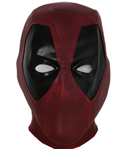 Kinder Deadpool Kostüm - Halloween Maske Latex Head Face Helm Film DP Cosplay Kostüm Kleidung Replik für Herren Party Verrücktes Kleid Zubehör