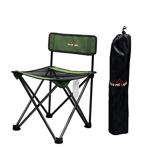 TTYY Chaise Pliante en Plein air Lune Chaise pêche Camping Plage en Plein air Loisirs Pique-Nique, Green