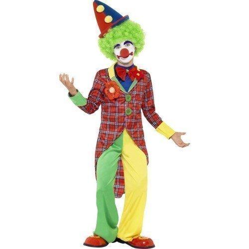 en Kinder Spaß Time Clown Zirkus Karneval Halloween Kostüm Kleid Outfit 4-12 Jahre - Multi, 7-9 Years (Halloween-zirkus-kostüme)