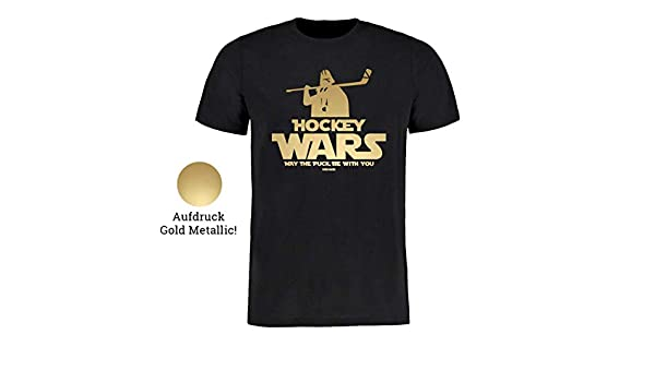 Scallywag/® Eishockey T-Shirt Hockey Wars I Gr/ö/ßen S 3XL I A BRAYCE/® Collaboration I M/öge der Eishockeypuck mit Dir Sein