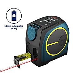 Digital Laser Distance Meter,Hanmer Rechargable Laser Meter Laser Measure,Portable Handle Digital Range Finder(Laser Tape Measure)