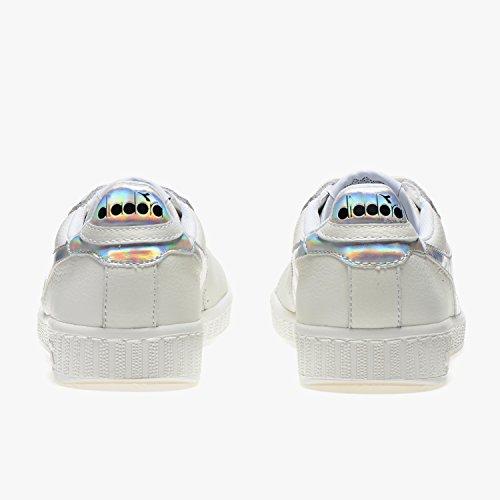 Diadora Game Hologram, Sneaker a Collo Basso Unisex – Adulto Bianco